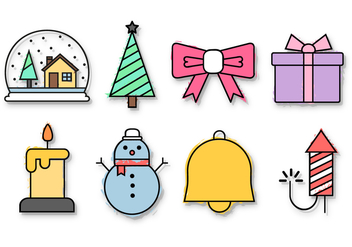 Free Christmas Icons Vector - Kostenloses vector #391503