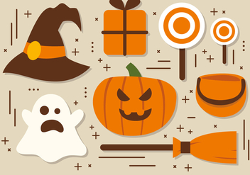Free Halloween Elements Vector Collection - бесплатный vector #391523