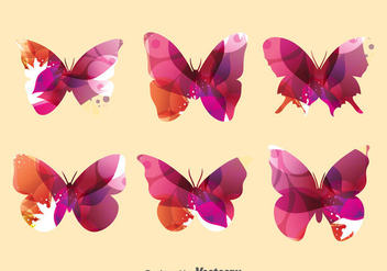 Abstract Butterfly Collection Set - Free vector #391613