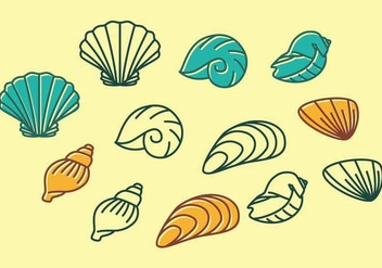 Sea Shells Icon - Kostenloses vector #391633