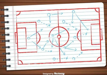 Vector Of Football Plan - Kostenloses vector #391723