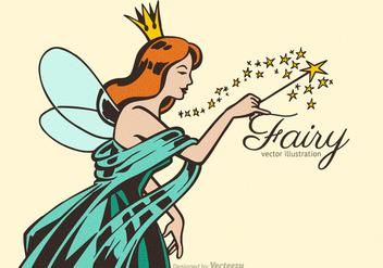 Free Fairy Vector Illustration - бесплатный vector #391803