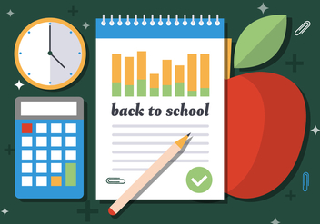 Free Welcome Back to School Vector Illustration - vector gratuit #391983