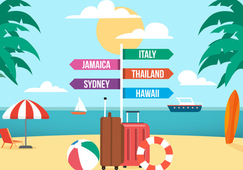 Free Travel Vector Illustration - бесплатный vector #392023