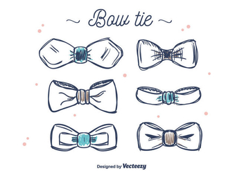 Bow Tie Set Vector - Free vector #392093