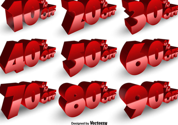 Vector Set Of Discount Numbers - vector gratuit #392173