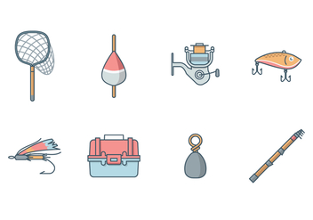 Free Fishing Equipment Vector - бесплатный vector #392233
