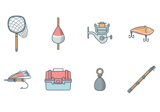 Free fishing equipment vector kostenloser vektor download for How to get free fishing gear
