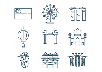 Free Singapore Icon Vector - vector gratuit #392273