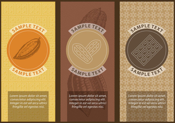 Cocoa And Chocolate Labels - vector gratuit #392293