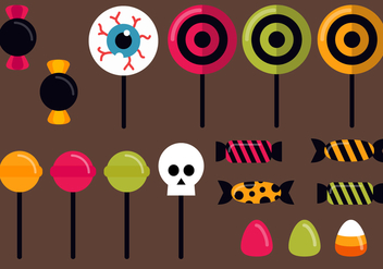 Free Halloween Candy Vector - бесплатный vector #392303
