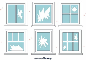 Free Broken Window Vector - Kostenloses vector #392323