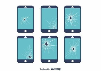 Broken Screen Vector - vector gratuit #392333