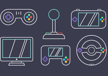 Free Video Game Vector - vector gratuit #392343