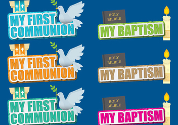 Communion And Baptism Titles - Kostenloses vector #392353