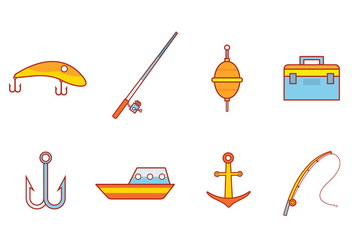 Free Fishing Icon Vector - бесплатный vector #392393