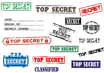 Stock Vector Top Secret Stamp - vector gratuit #392403