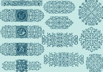 Line Scrollwork Dividers - Kostenloses vector #392413