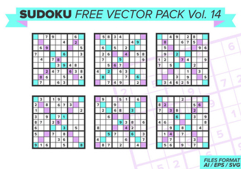 Sudoku Free Vector Pack Vol. 14 - бесплатный vector #392423