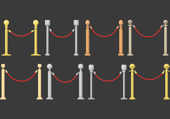 Velvet Rope Vector Icons - бесплатный vector #392453