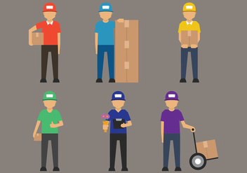 Delivery Man Vector - vector #392493 gratis