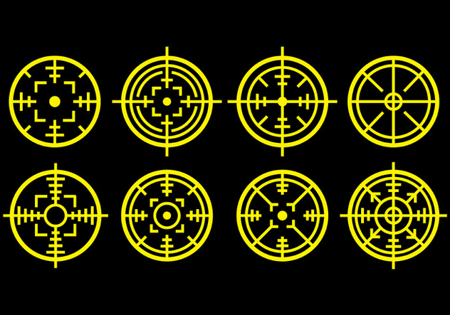 Laser Tag Icons - Free vector #392533