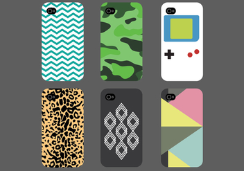 Phone Case Pack - Kostenloses vector #392573