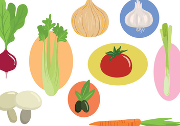 Free Vegetables Vectors - vector gratuit #392613