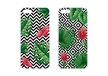 Phone Case Tropical Green Vector - Free vector #392643
