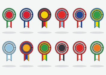 Free Flag Cockade Vector Illustration - бесплатный vector #392813