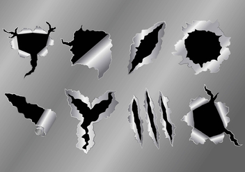 Metal Tear Icons - vector gratuit #392843
