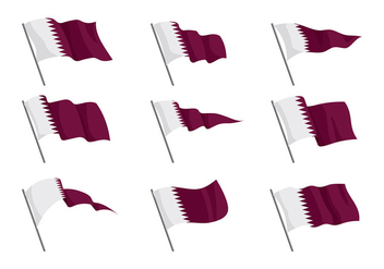 Qatar Flag Vector - бесплатный vector #392863