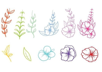 Free Hand Drawn Pansy Vector - Free vector #392873