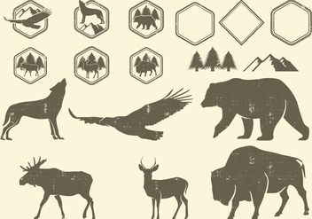 Wilderness Design Elements - Kostenloses vector #392893