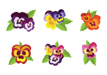Pansy Vector - Free vector #392943