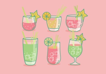 Lemongrass Drink Vector - бесплатный vector #393103