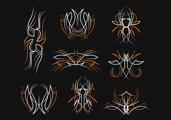 Free Pinstripes Vector Set - Free vector #393143