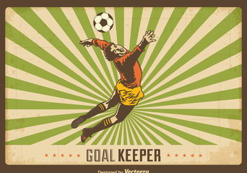 Free Retro Goal Keeper Vector Background - бесплатный vector #393153