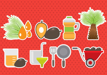 Palm Oil Icons - vector #393173 gratis