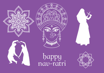 Navratri Vector Elements - бесплатный vector #393193