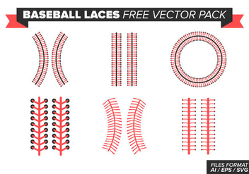 Baseball Laces Free Vector Pack - Kostenloses vector #393313
