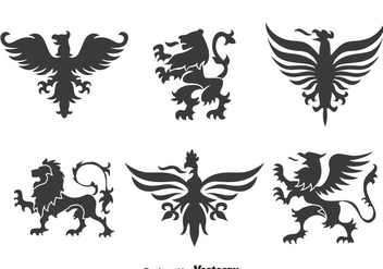 Heraldry Ornament Collection Vector - vector gratuit #393323