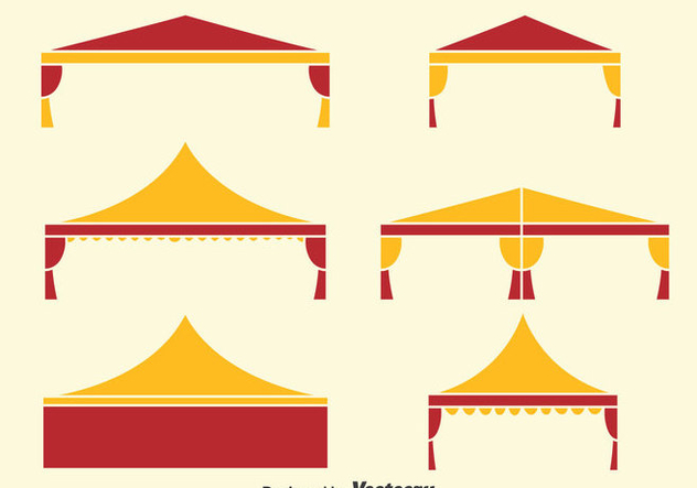 Folding Tent Collection Vector - бесплатный vector #393333