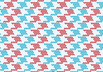 Red And Blue Keffiyeh Pattern - vector gratuit #393353