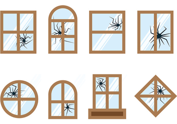 Broken Window Vector - Free vector #393393