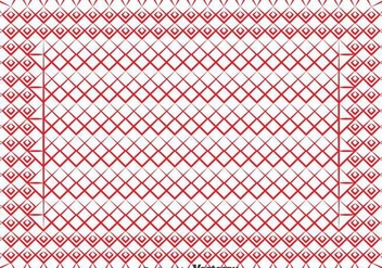 Red Keffiyeh Pattern Vector - бесплатный vector #393433