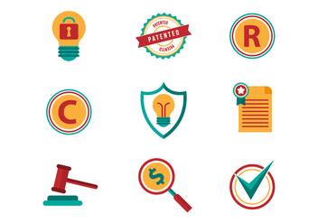 Free Patent and Copyright Vector Icons - бесплатный vector #393473