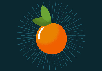 Radiant Orange - Free vector #393533