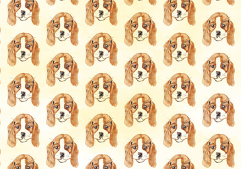 Vector Watercolor Dog Pattern - Free vector #393563