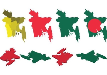 Free Bangladesh Map Vector - бесплатный vector #393653